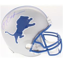 Barry Sanders Signed Lions Throwback Full-Size Helmet (TriStar Hologram)