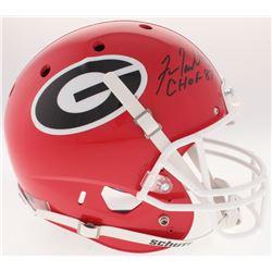 "Fran Tarkenton Signed Georgia Bulldogs Full-Size Helmet Inscribed ""CHOF 87"" (Radke COA)"