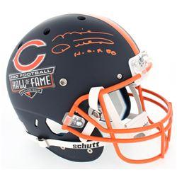 """Mike Ditka Signed Hall of Fame Commemorative Full-Size Matte Blue Helmet Inscribed """"H.O.F. 88"""" (JSA"""
