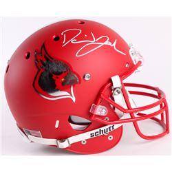 David Johnson Signed Cardinals Full-Size Custom Matte Red Helmet (JSA COA)