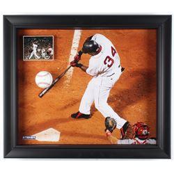David Ortiz Signed Red Sox 23.5x27.5x2.75 Custom Framed Baseball Shadowbox Display (MLB Hologram  Fa