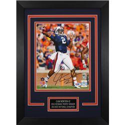 Cam Newton Signed Auburn Tigers 14x18.5 Custom Framed Photo Display (PSA COA)