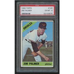 1966 Topps #126 Jim Palmer RC (PSA 6)