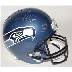 """Shaun Alexander Signed Seahawks Full-Size Helmet Inscribed """"NFL MVP -05"""" (Beckett COA)"""