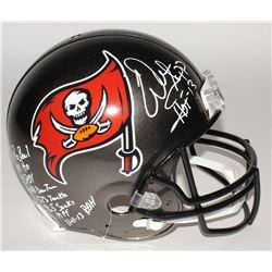 Warren Sapp Signed Buccanneers Authentic On-Field Full-Size Helmet with (9) Inscriptions (JSA COA)