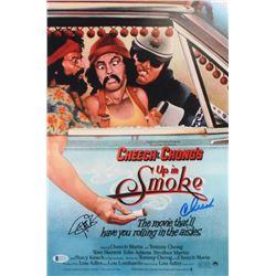 "Tommy Chong  Cheech Marin Signed ""Cheech y Chong's Up In Smoke"" 12x18 Movie Poster (Beckett COA)"