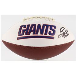 Saquon Barkley Signed Giants Logo Football (JSA COA)