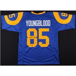 """Jack Youngblood Signed Rams Jersey Inscribed """"HOF 01"""" (Schwartz COA)"""
