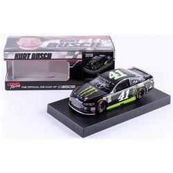 Kurt Busch Signed NASCAR #41 Monster Energy 2018 Fusion - 1:24 Premium Action Diecast Car (PA COA)