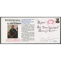 "O. J. Simpson  Thomas J. Riccio Signed ""Las Vegas Review Journal: O.J. Goes To Prison"" First Day Cov"
