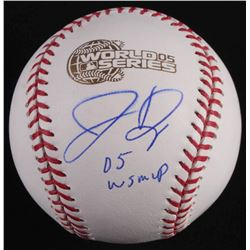 "Jermaine Dye Signed 2005 World Series Logo Baseball Inscribed ""05 WS MVP"" (Schwartz COA)"