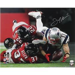 "Julian Edelman Signed Patriots Super Bowl LI ""The Catch"" 16x20 Photo (JSA COA)"