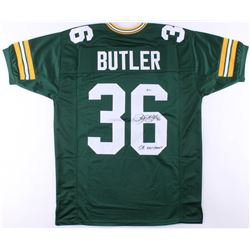 "LeRoy Butler Signed Packers Jersey Inscribed ""SB XXXI Champs"" (Beckett COA)"