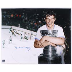 """Bobby Orr Signed Bruins """"The Flying Goal"""" 16x20 Photo (Orr COA)"""