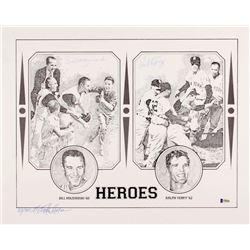 "Bill Mazeroski  Ralph Terry Signed LE ""Heroes"" 16x20 Lithograph /300 (Beckett COA)"