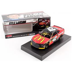 Kyle Larson Signed NASCAR #42 McDonald's 2018 Camaro - 1:24 Premium Action Diecast Car (PA COA)
