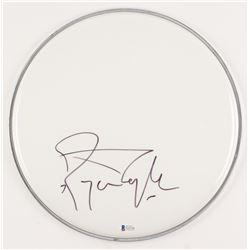 "Roger Taylor Signed 12"" Drum Head (Beckett COA)"