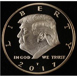 2017 Donald Trump Presidential Gold Plated Collectable Coin
