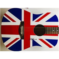 Pete Townshend Signed Full-Size Union Jack Acoustic Guitar (JSA COA)
