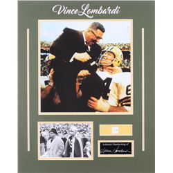 Vince Lombardi Packers 16x20.25 Custom Matted Cut Display with (1) Hand-Written Word from Letter (Be