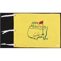 Arnold Palmer Signed 2004 Masters Pin Flag (JSA LOA)