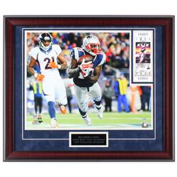 Brandon LaFell Signed Patriots  Super Bowl XLIX Champion  23x27 Custom Framed Photo Display with Tic