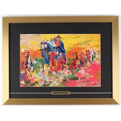 LeRoy Neiman  Homage to Remington  16x 21 Custom Framed Print Display