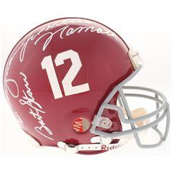 Joe Namath, Ken Stabler Signed Alabama Crimson Tide Full-Size Authentic On-Field Helmet (JSA LOA)