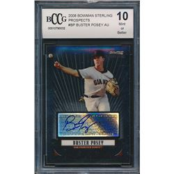2008 Bowman Sterling Prospects #BP Buster Posey Autograph (BCCG 10)
