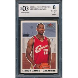 2003-04 Fleer Tradition #261 LeBron James RC (BCCG 8)