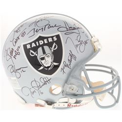 Raiders Full-Size Authentic On-Field Helmet Signed by (11) with Jim Plunkett, Roger Craig, Marcus Al