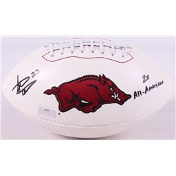 "Steve Atwater Signed Arkansas Razorbacks Logo Football Inscribed ""2x All American"" (Radtke COA)"