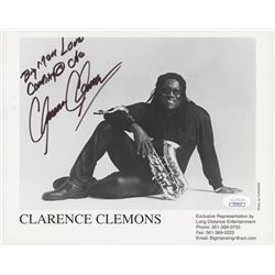 "Clarence Clemons Signed 8x10 Photo Inscribed ""Big Man""  ""Love"" (JSA COA)"