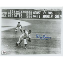 "Don Larsen Signed Yankees 8x10 Photo Inscribed ""10-8-56"" (Autograph Reference COA)"