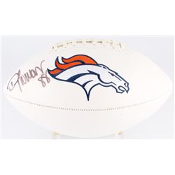 Demaryius Thomas Signed Broncos Logo Football (Beckett COA)