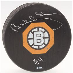 Bobby Orr Bruins Signed Official NHL Bruins 1966-67 Throwback Logo Puck - Rookie Year (Orr COA)