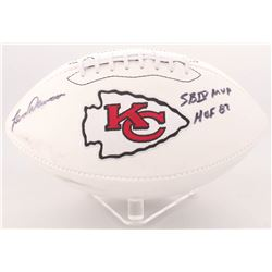 "Len Dawson Signed Chiefs Logo Football Inscribed ""SB IV MVP""  ""HOF 87"" (Radtke COA)"