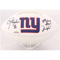 "Lawrence Taylor Signed LE Giants Logo Football Inscribed ""Giant for Life"" (Radtke COA)"