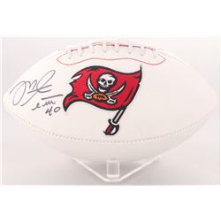 Mike Alstott Signed Buccaneers Logo Football (Radtke COA)