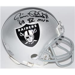 "Jim Plunkett Signed Raiders Mini Helmet Inscribed ""S.B. XV MVP"" (Radtke COA)"