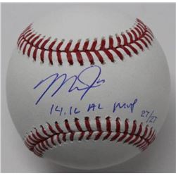 """Mike Trout Signed LE Baseball Inscribed """"14, 16 MVP"""" (Steiner COA)"""