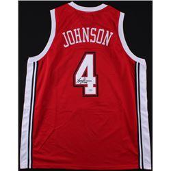 Larry Johnson Signed UNLV Runnin' Rebels Jersey (PSA COA)