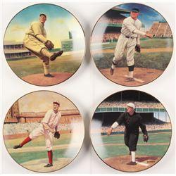 Lot of (4) LE Bradford Exchange Delphi Porcelain Plates Baseballs Best Pitchers Set with Walter John