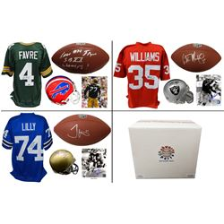 Football Collection Mystery Box - Series 3 (Limited to 75) (4 Autographs/ 2 Hall of Famers Per Box)