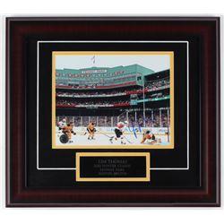Tim Thomas Signed Bruins 16x18 Custom Framed Photo Display (Thomas Hologram)