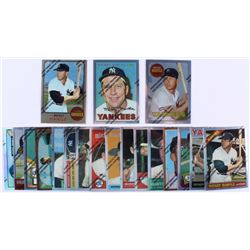 1996 Topps Mantle Finest Complete Factory Set of (19) Mickey Mantle Re-Print Baseball Cards with #2