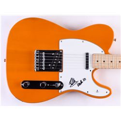 Eddie Van Halen Signed Full-Size Fender Electric Guitar with Inscription (Beckett Hologram)