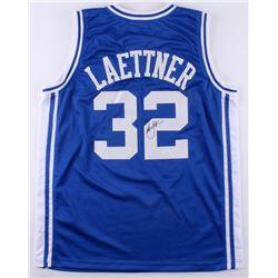 """Christian Laettner Signed Duke Blue Devils """"The Shot"""" Jersey (JSA Hologram)"""