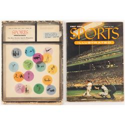 Original First Issue Sports Illustrated Magazine with Original Mailing Envelope