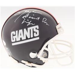 "Lawrence Taylor Signed Giants Mini-Helmet Inscribed ""Giant For Life"" (JSA COA)"